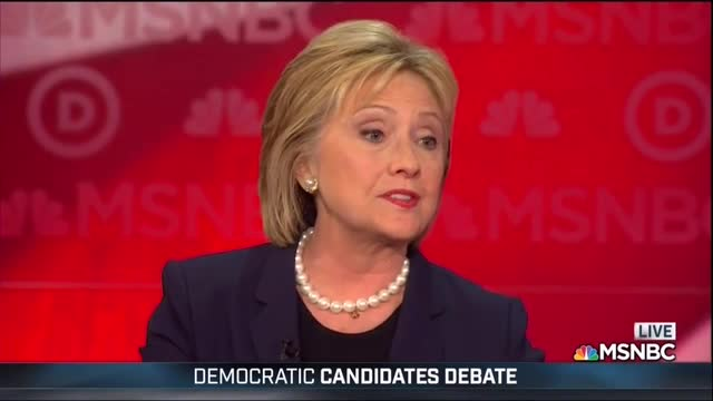 Hillary Rerun: Same Dismissive Answer in 2016, 2007 -- 2016 Answer