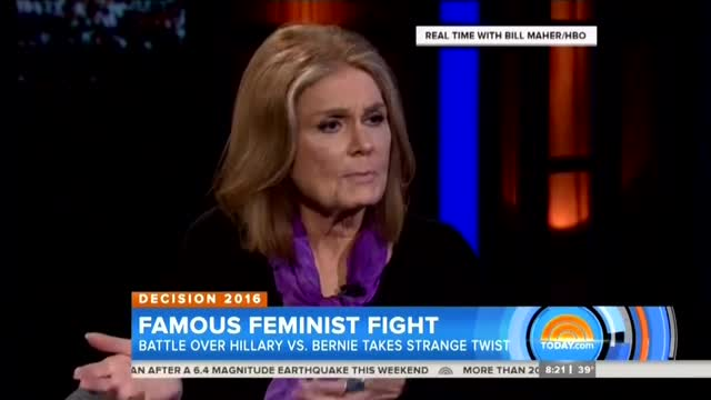 Only NBC Notices Gloria Steinem's Sexist Attack on Women Voters