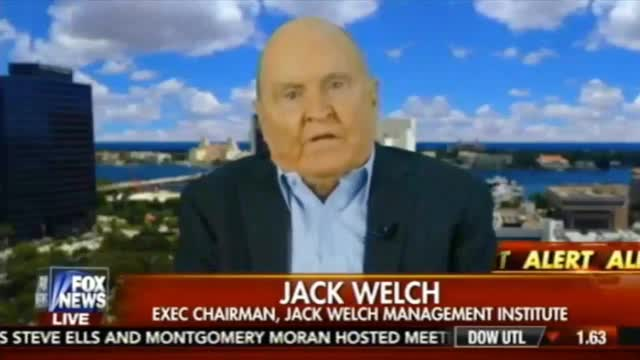 Former GE CEO Jack Welch: 'We're in a Slowdown. There's No Question'