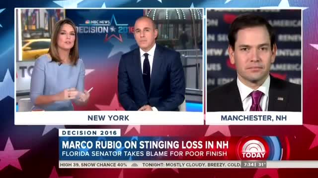 NBC to Rubio: Aren't You Just 'A Mile Wide and an Inch Deep'?