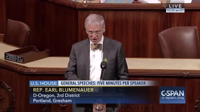 Rep. Blumenauer: Recovery Act Should Have Been Larger - 'I Welcome' $10 Per Barrel Oil Tax