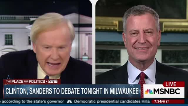 Matthews to de Blasio: Don't You 'Wish' You Were Hillary's Boxing Coach?