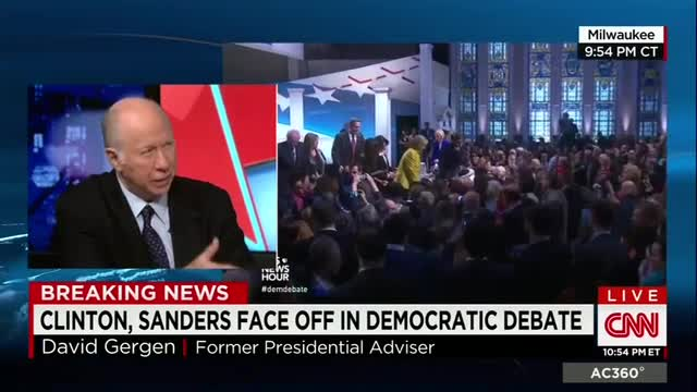 Gergen: 'I Can't Remember' a POTUS Candidate 'More Experienced' & 'Competent than Hillary'