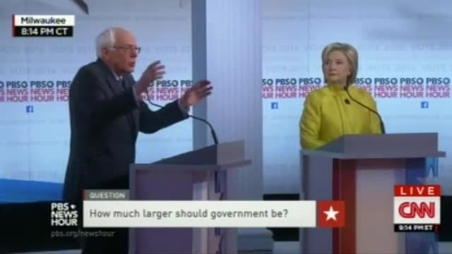Sanders, Clinton on the Size of Government