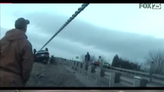 Dash Cam: Trooper Hit By Flipping Vehicle