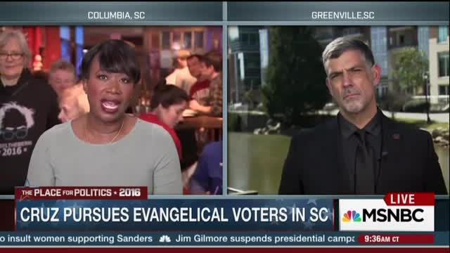 MSNBC's Reid Tells Pro-Cruz Pastor 'Separation of Church and State a Constitutional Fact'