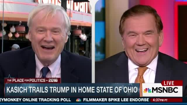 Matthews Doubles Down: Kasich Would Be Good Hillary VP Pick; He's Too Moderate for GOP