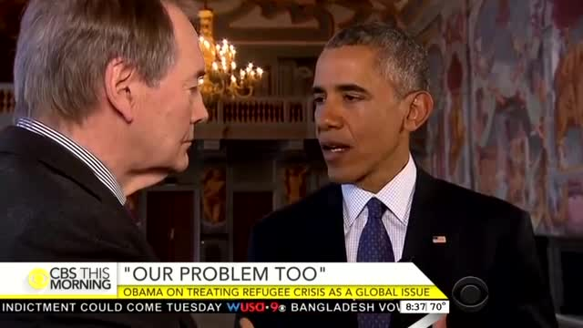 Charlie Rose Tees Up Obama to Slam Europe's 'Far Right' Refusing Refugees