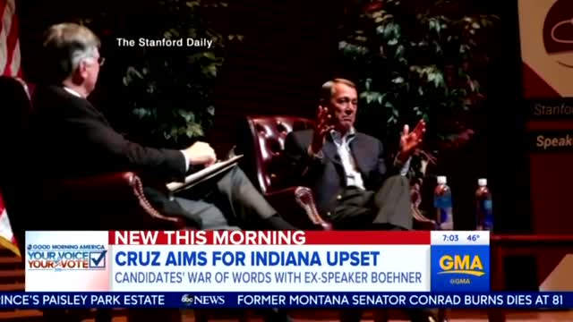 Networks Seize on Boehner's Nasty Slam to Bury Cruz