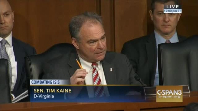 Sen. Tim Kaine: 'We Have Made a Complete Hash of the...Doctrines of War'