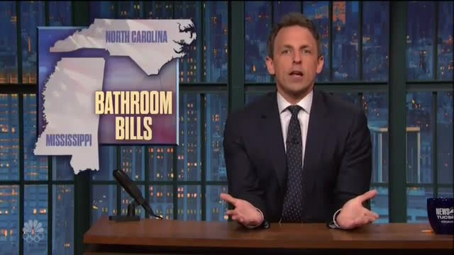 Seth Meyers Trashes 'Lizard' Ted Cruz, 'Fear Mongering' McCrory over Bathroom Laws