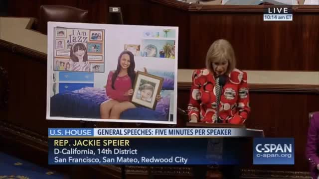 Rep. Speier Reads 'I am Jazz' on House Floor