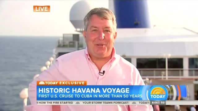 NBC Reporter Giddy With Excitement Aboard Cruise to Cuba: 'A Pinch-Me Moment'