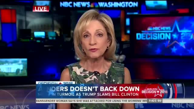 Andrea Mitchell Dismisses Clinton Rape Accusation as 'Discredited'