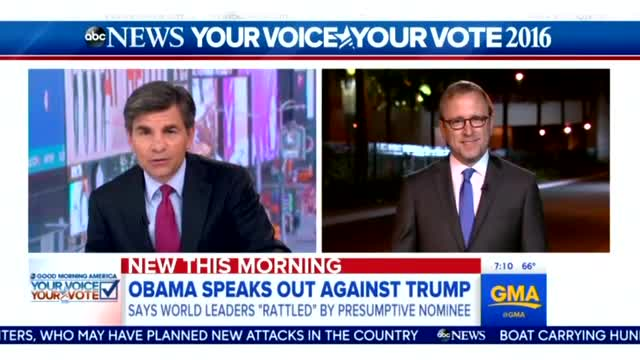 Nets Tout Obama Overseas Attack on Trump, Bashed Bush for Same Thing