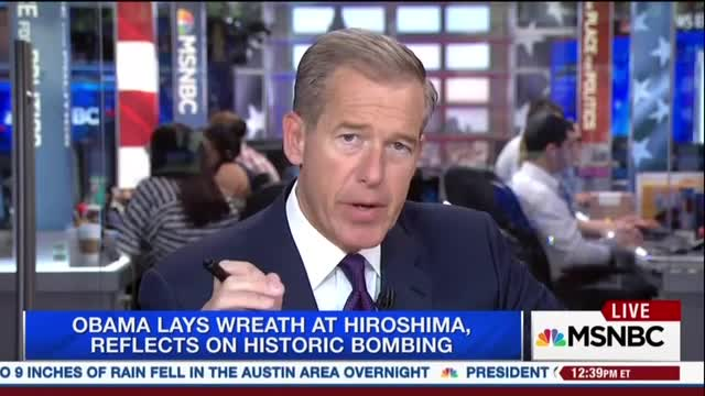 Brian Williams: U.S. Is 'The Only Nation to Have Used' Nuclear Weapons 'In Anger'
