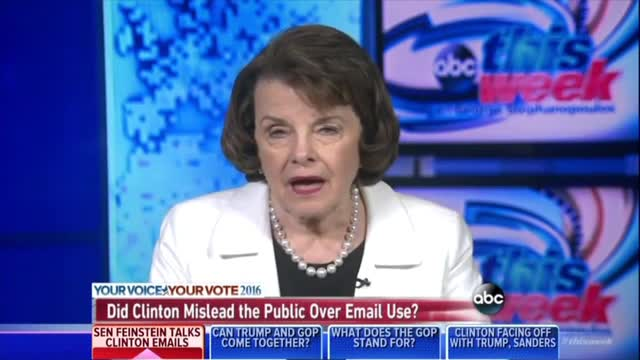 Feinstein Rationalizes Email: Hillary 'Wants a Little Bit of a Private Life'