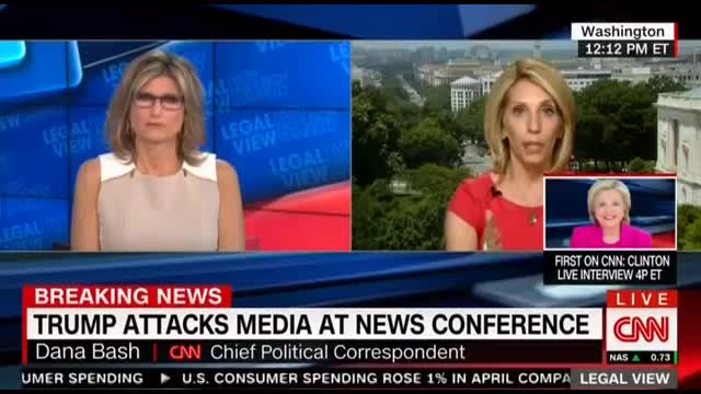 CNN: Trump's 'Combative' Approach to Media 'Not A Very Good Strategy'
