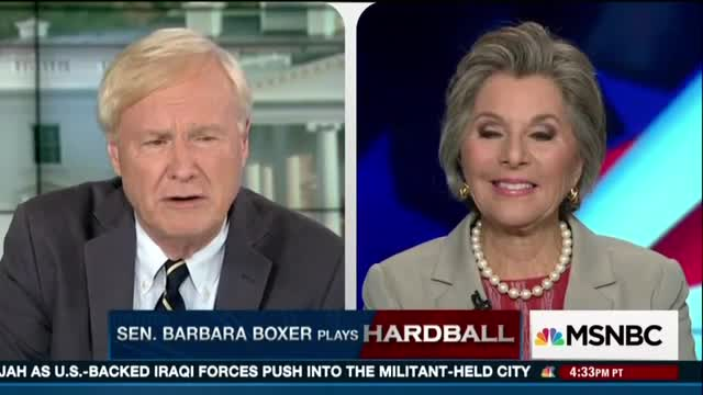 Creepy Matthews to Barbara Boxer: 'You Look Great By the Way If I'm Allowed to Say That'