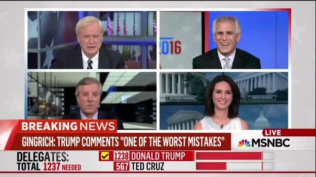 Chris Matthews: 'Good News for American People' If Gingrich Off VP List