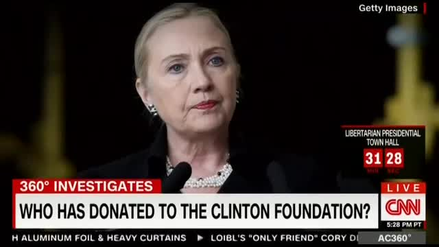 Surprise: CNN Spotlights Foreign, Corporate Donations to Clinton Foundation