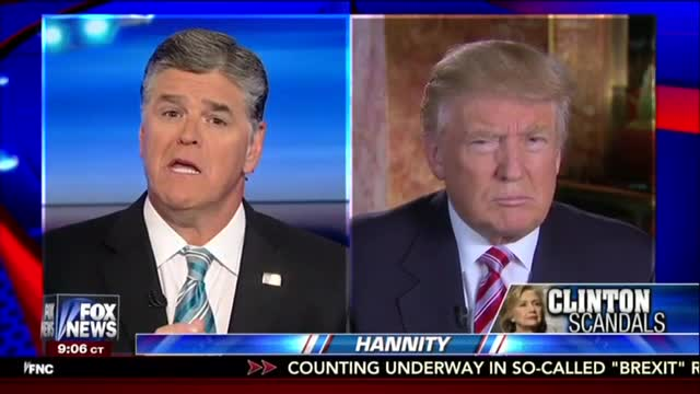 Sean Hannity Discusses MRC Study with Donald Trump