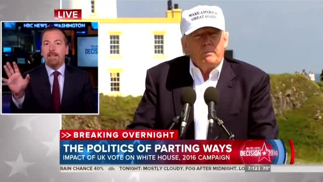 After Brexit, Chuck Todd Warns 'Media Elites' Not to 'Underestimate' Trump