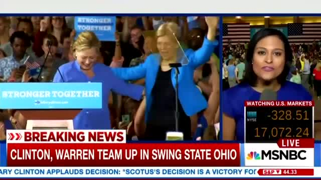 MSNBC: Clinton/Warren Rally 'More Like a Rock Concert Than a Campaign Event'