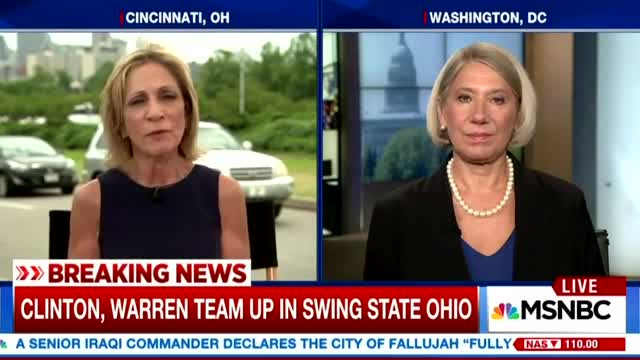 Andrea Mitchell Mesmerized by Clinton and Warren: 'Magic on Stage'