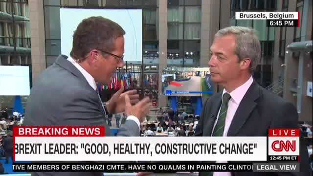 Brexit's Farage Subjected to Accusing Interrogation by CNN Reporter