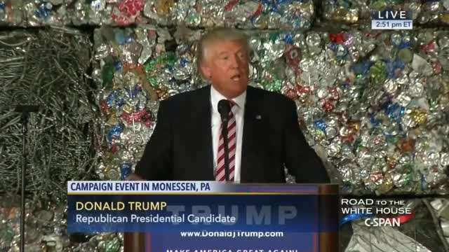 Trump: 'Put American Steel and Aluminum Back Into the Backbone of Our Country'