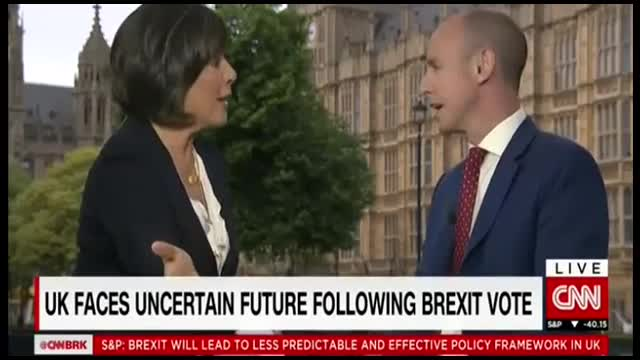 Out-of-Control Amanpour Badgers Pro-Brexit Official; He Pushes Back
