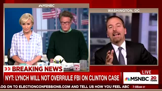 Chuck Todd Rationalizes Clinton/Lynch Meeting: 'Could Happen by Happenstance'