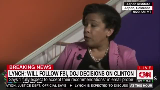 AG Lynch EXPECTS to Accept FBI Hillary Case Recommendation