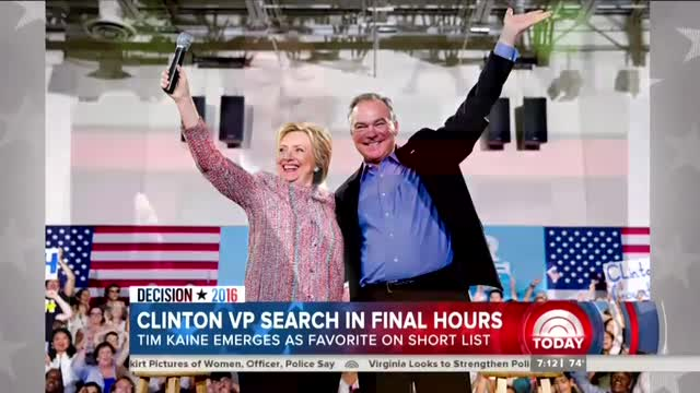 NBC Worries Hillary's Top VP Choice is 'Too Centrist'