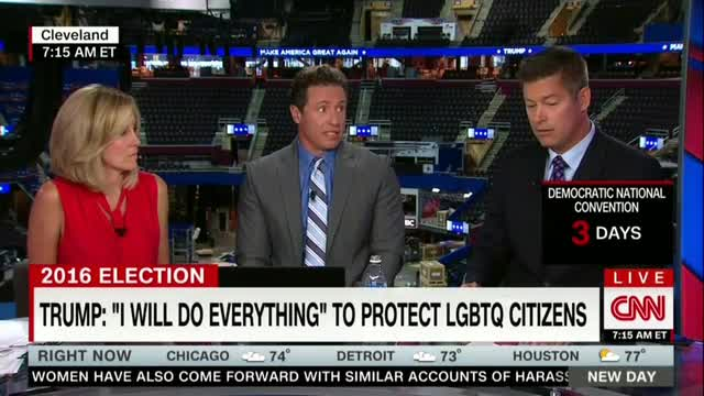 CNN's Cuomo Slams Pence as 'No Friend to LGBT,' Frets Trump on Gays