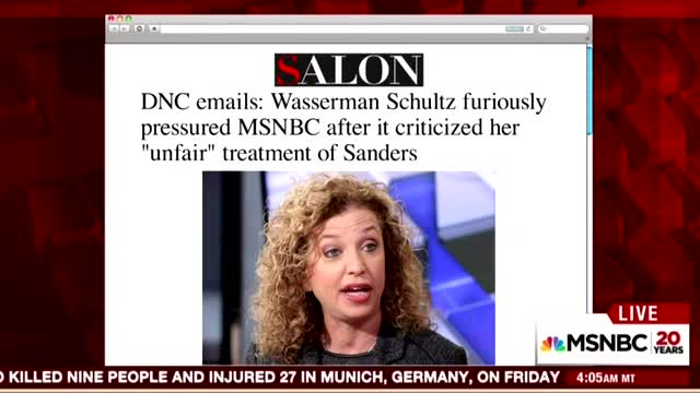 Thousands of Embarrassing Emails Reveal Wasserman Schultz Targeted Morning Joe
