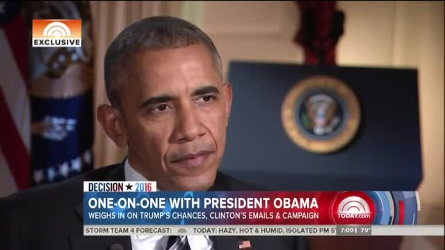 NBC Asks Obama: Is it 'Frightening' Trump May Have Nuclear Codes?