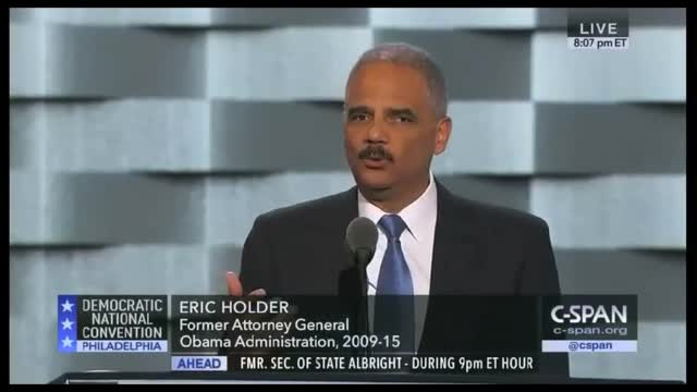 Eric Holder: 'An Attack on a Police Officer Anywhere Is an Attack on Our Entire Society'