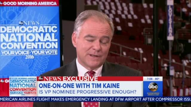 Kaine: Recognizing Marriage as 'Between a Man and a Woman' Creates a 'Hostile Place'