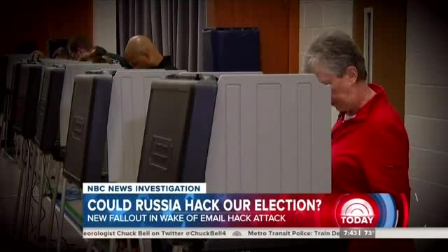 Paranoid NBC Fears: 'Could Russia Hack Our Election?'