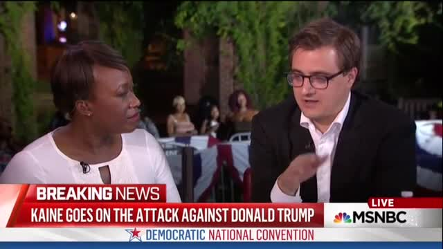 Chris Hayes: Tim Kaine Was 'Like the Earnest Dad at the Neighborhood Barbecue'