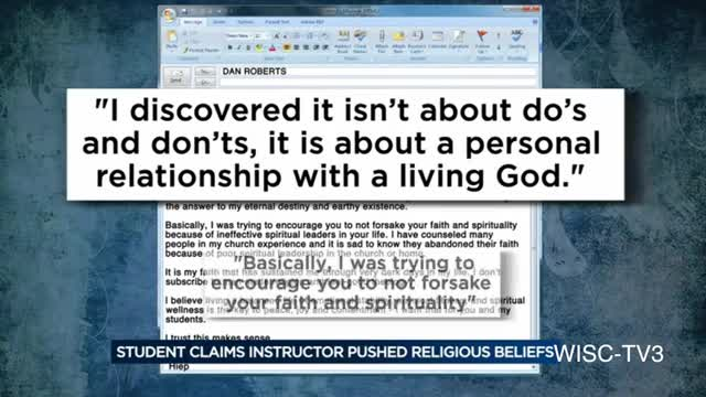 Professor Criticized for Allegedly Talking about God in Ethics Class