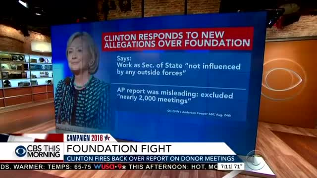 NBC & CBS Help Hillary Defend Clinton Foundation