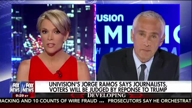 FNC's Kelly Confronts Ramos on Trump Opposition, Asks Why He Doesn't Label Hillary a 'Liar'