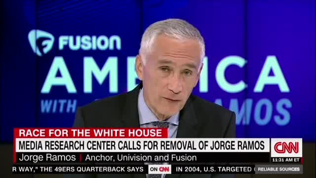 No: Jorge Ramos Responds to MRC's Call for Removal from Anchor Chair