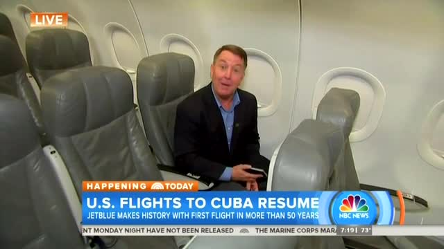 Excited NBC Reporter Boards 'Flight Into History' to Cuba