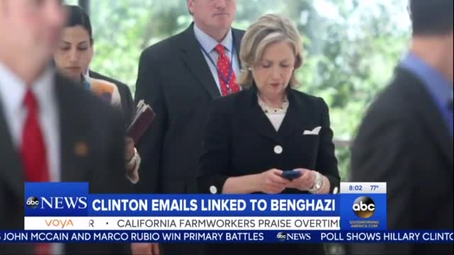 ABC Notices Hillary's Deleted Benghazi E-Mails, NBC Still Censoring
