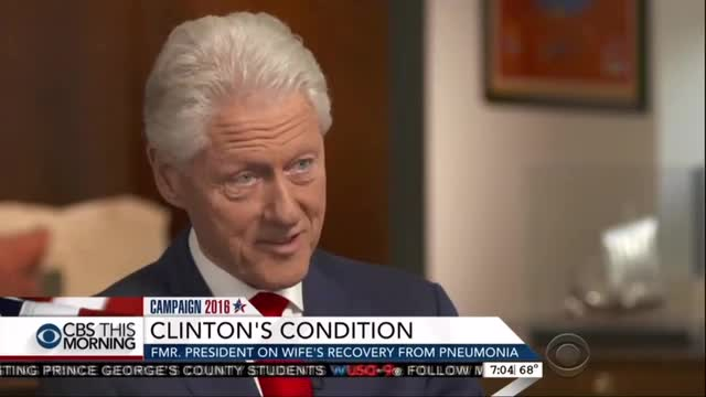 CBS Edits Out Revealing Verbal Slip From Bill Clinton on Hillary's Health