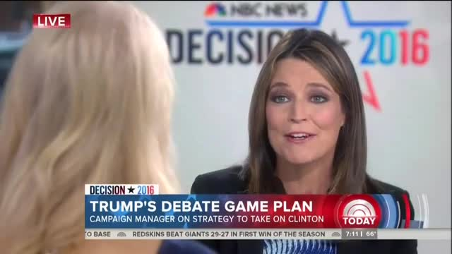 NBC Warns Trump: 'Don't Go There' on Clinton Sex Scandals